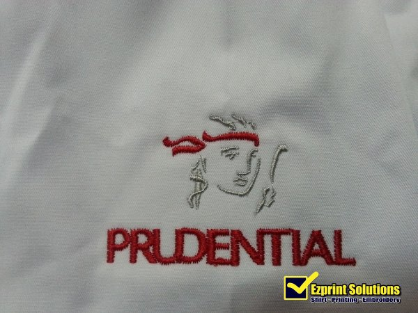 sulam logo prudential embroidery