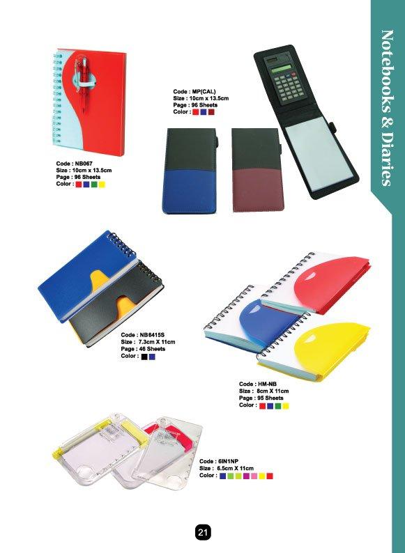tempahan buku nota