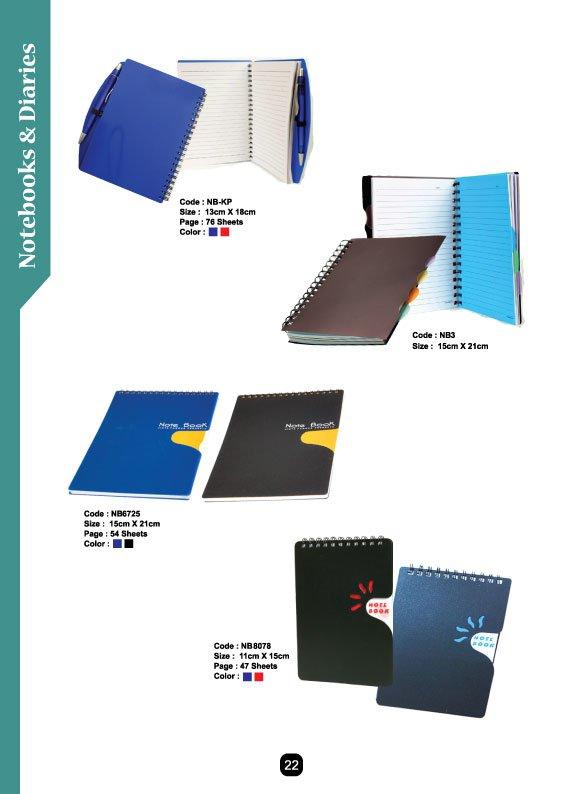 Tempah buku nota bercetak