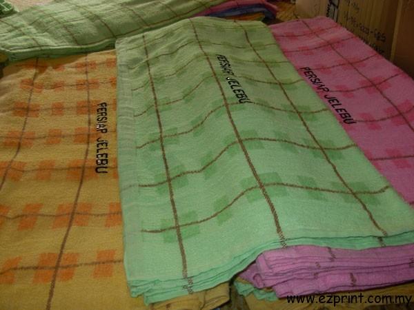 sulam Bath towel persiap jelebu