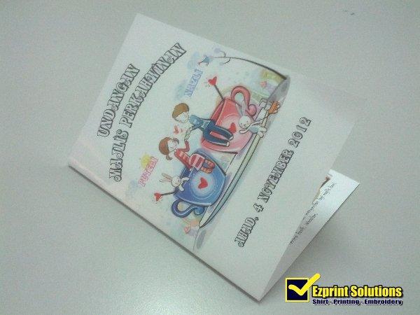 cetak kad kahwin A5
