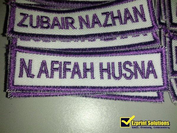 name tag sulam