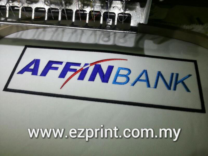 patch embroidery Affin Bank
