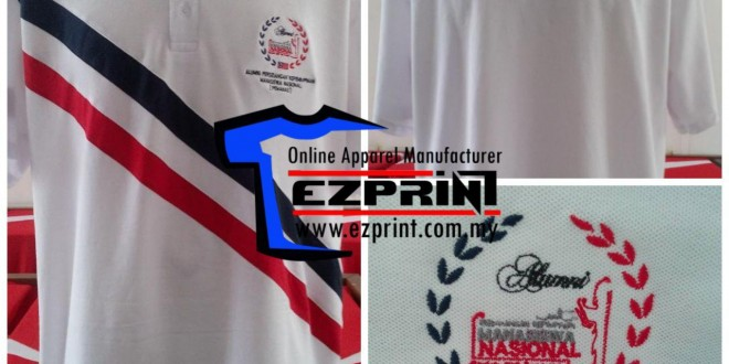 tempah tshirt sulam logo 1 helai