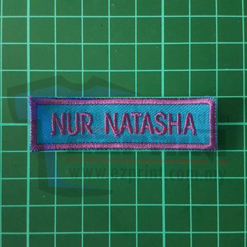 tempah nametag embroidery sekolah