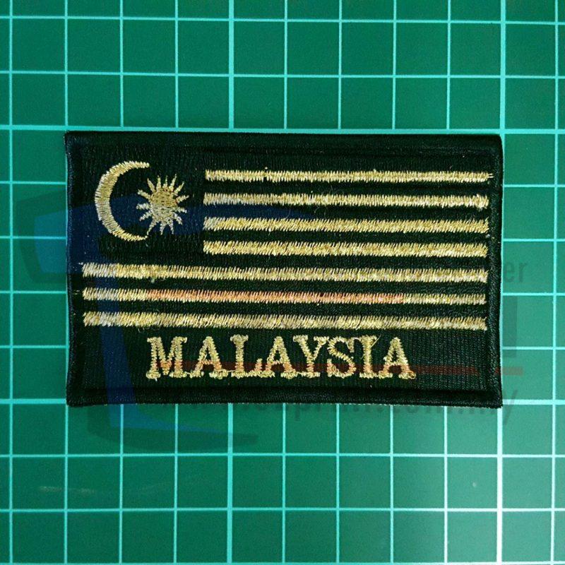 bendera malaysia gold