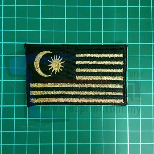 sulam bendera malaysia patches