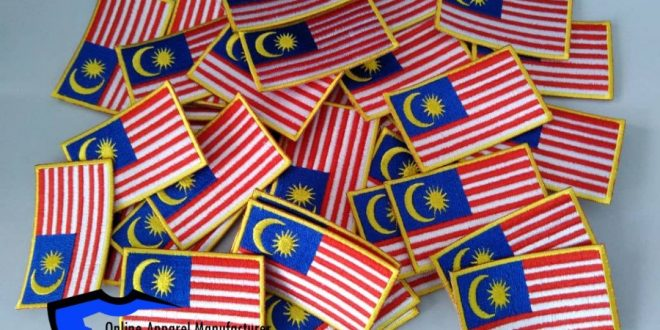 Patches embroidery malaysia Flag